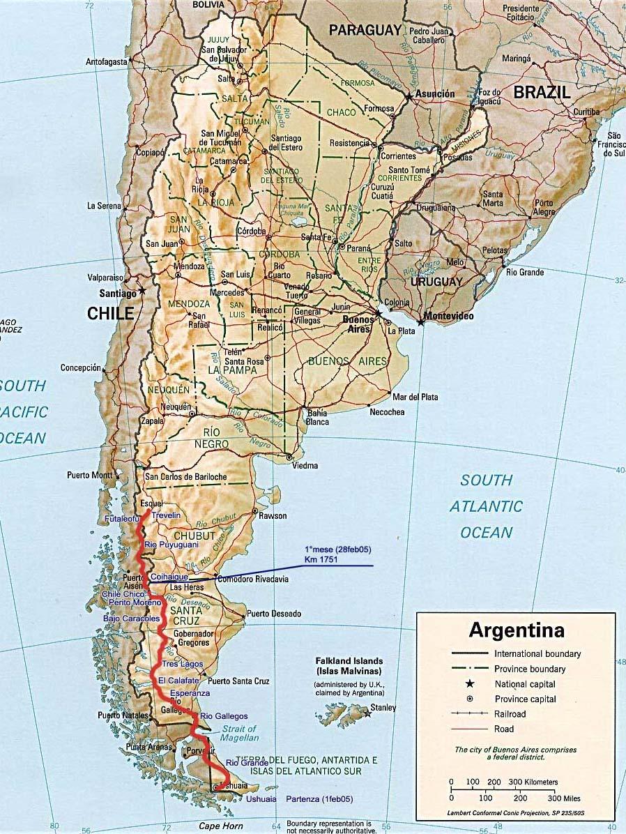Patagonia Cartina Geografica.Andrea Rossi